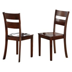 Dark Brown Wooden Dining Chairs Just In Time Tables Princeton Kitchen Dinette Wood