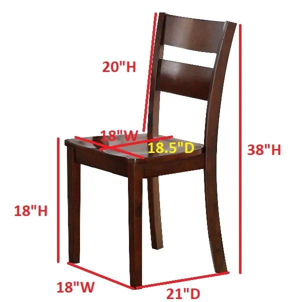 kitchen dining chairs gray backsplash princeton dinette dark brown wood