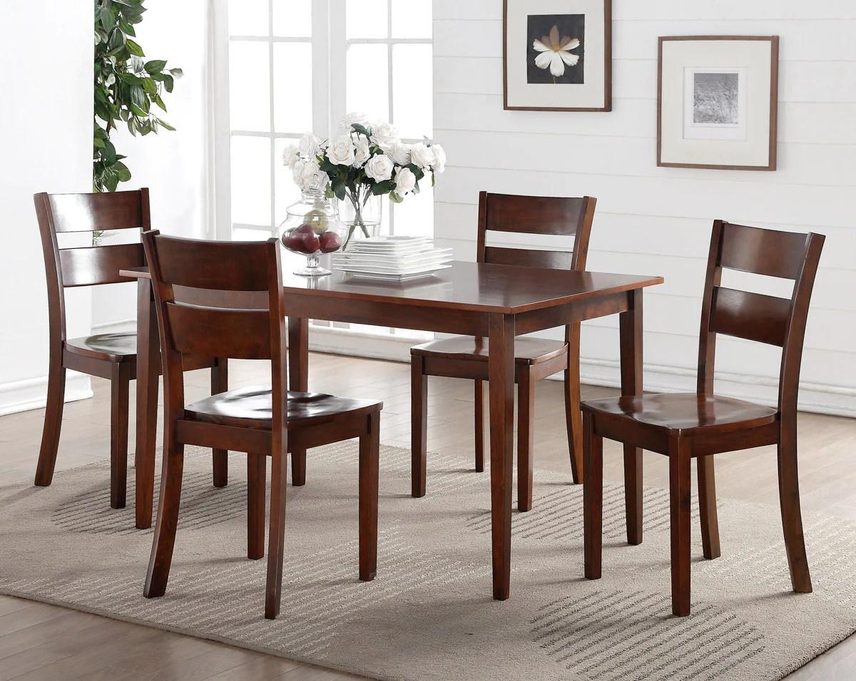 kitchen dining chairs custom cabinets princeton dinette dark brown wood