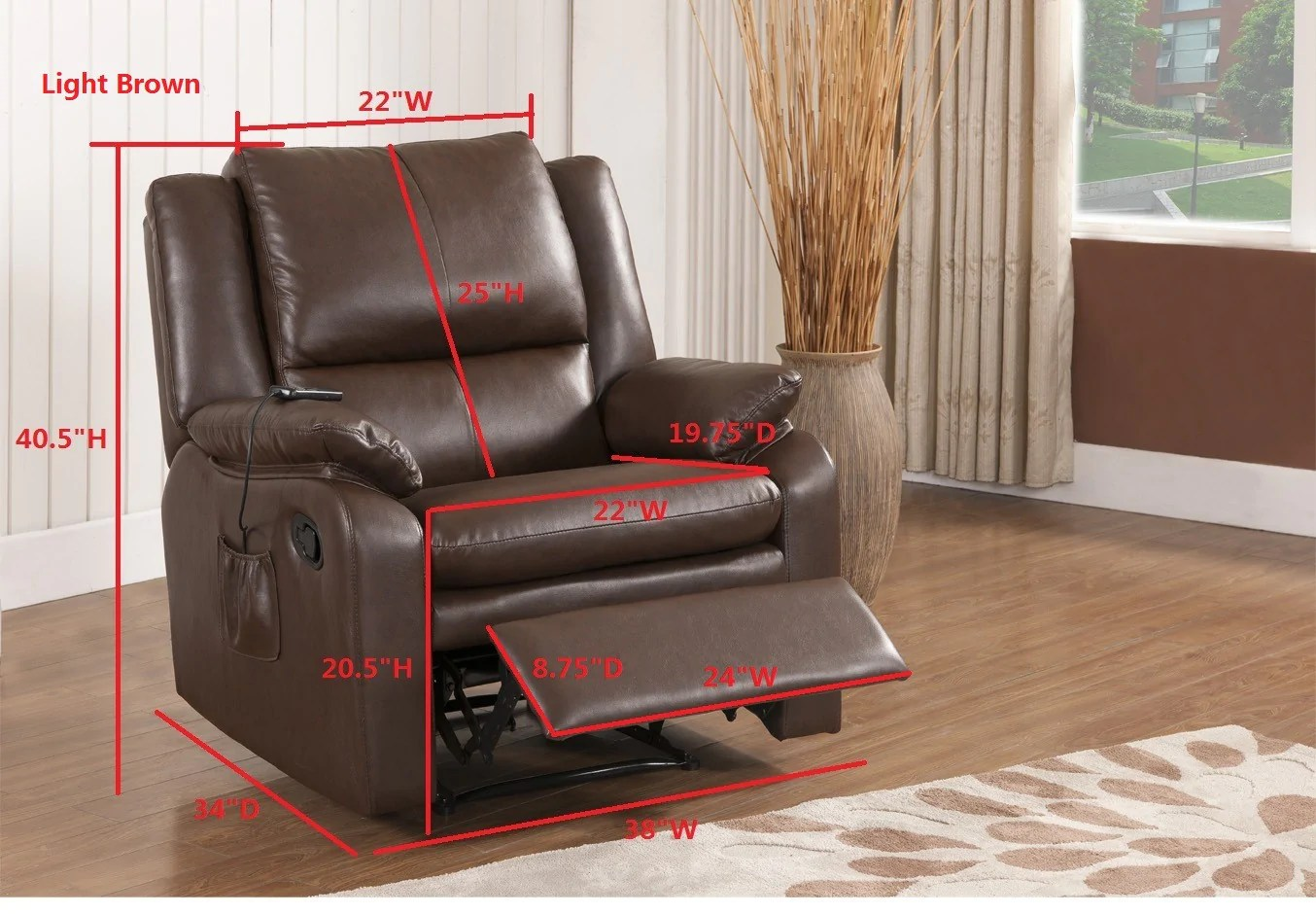 leather armchair metal frame lazy boy chairs sale brown faux electric massage recliner