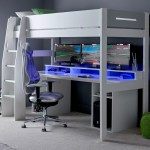 Urban High Sleeper Pc Gaming Bed With Built In Gaming Desk Family Window