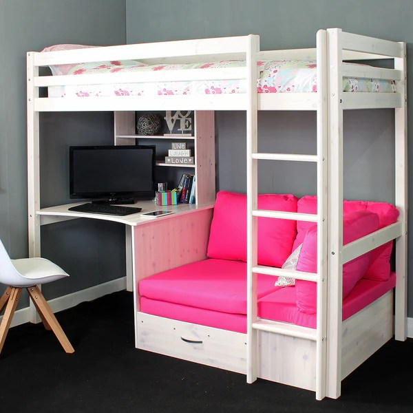 Thuka Hit 7 High Sleeper Bed With Sofa Bed Amp Desk Family