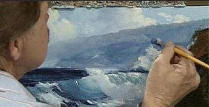 painting the sea in