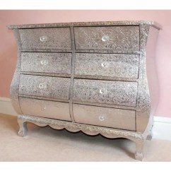 Living Room Wall Units With Storage Paint Colors For 2016 Silver Embossed Chest Of Drawers (8 Drawers, 85 X 38 70cm)