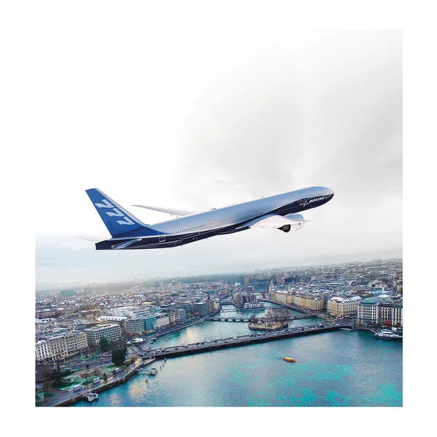 Boeing 777-300ER Matted Print - Large – The Boeing Store