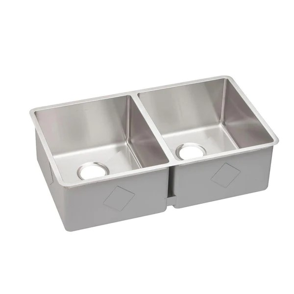 elkay kitchen sinks rustic tiles crosstown undermount stainless steel 32 in double bowl dream home supply