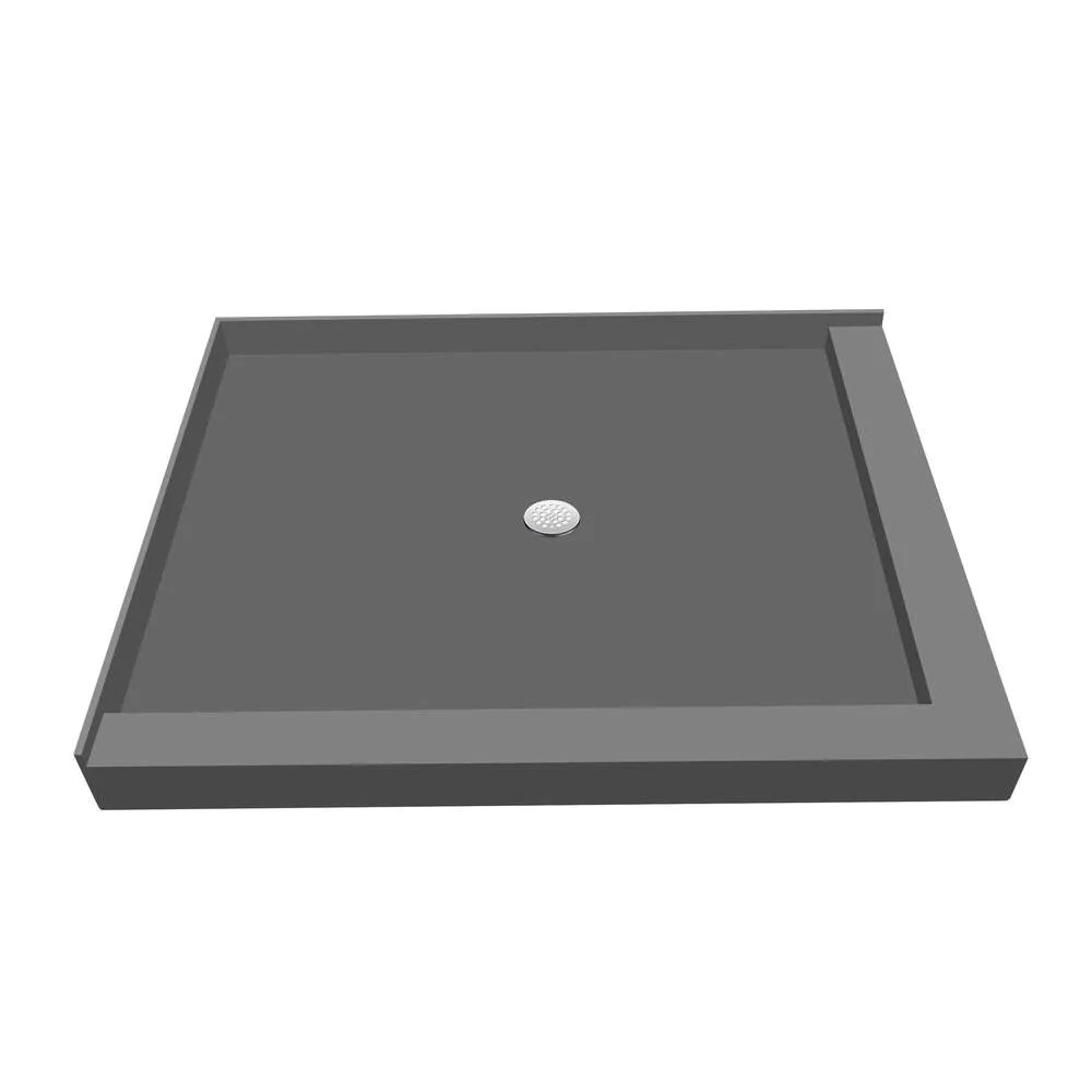 tile redi base 36 in x 48 in double threshold shower base with center drain
