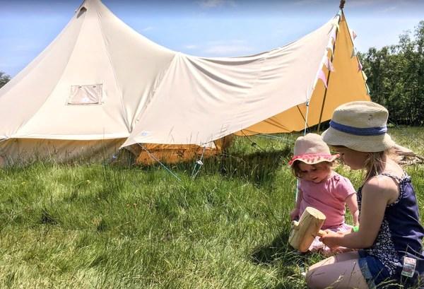 auvent de tente en toile grand format 400 x 240 2 poteaux bell tente boutique