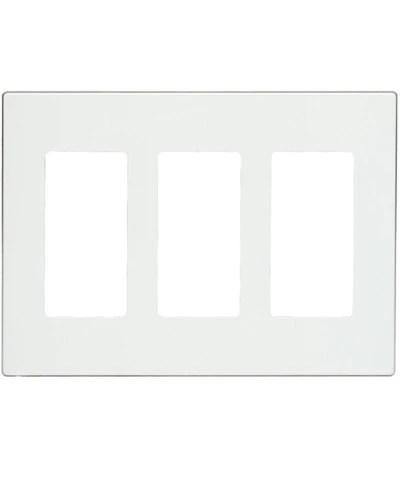 Screwless Switch Plates : screwless, switch, plates, 3-Gang, Decora, Plate,, Screwless,, Snap-On, Mount,, 80311-S, Leviton