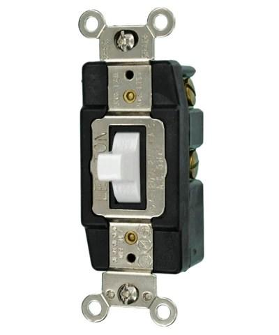 15Amp 120Volt SinglePole Toggle AC Quiet Switch, 1256 – Leviton