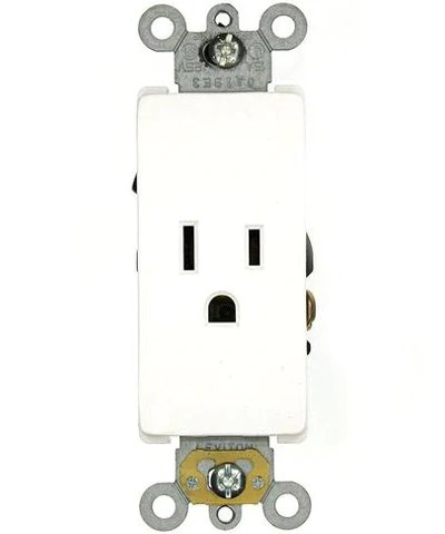 110v Receptacle Wiring 15 Amp 125 Volt Decora Plus Single Receptacle Straight