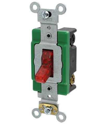 30 Amp, 120 Volt, Toggle Pilot Light, Illuminated ON