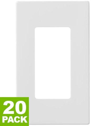 Screwless Switch Plates : screwless, switch, plates, 1-Gang, Decora, Wallplate, Screwless, Snap-On, Mount,, 20-Pack,White,, 80301..., Leviton