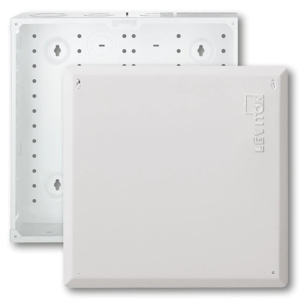 smc structured media enclosure with cover 14 inch white 47605 140 leviton [ 1000 x 1000 Pixel ]