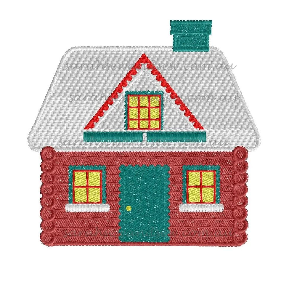 Embroidery Design Christmas House