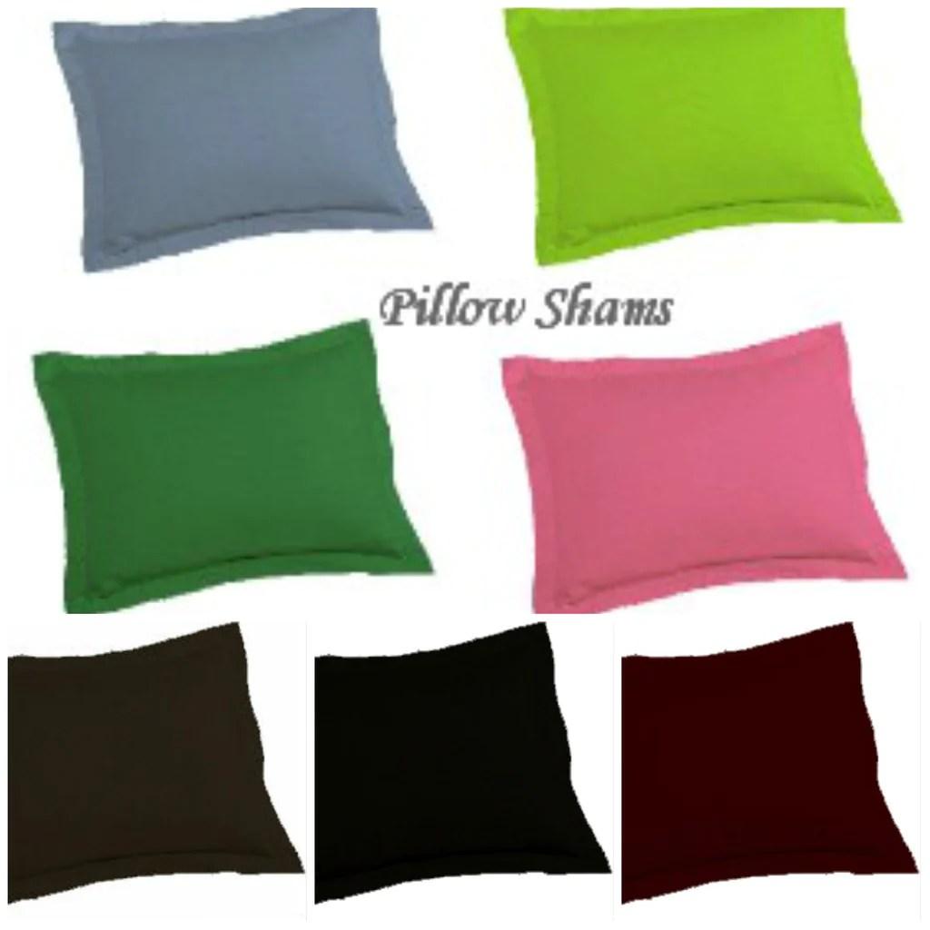 solid color pillow sham