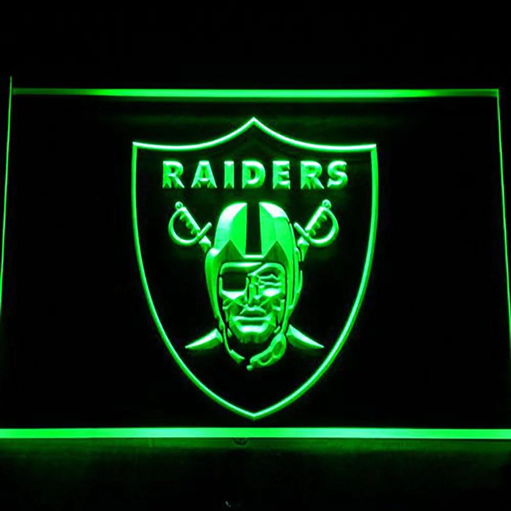 Oakland Raiders Logo 3d Neon Sign Gear Gump