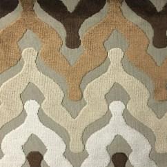 Sofa Upholsterers Leicester Pottery Barn Basic Slipcovered Reviews Bold Chevron Cut Velvet Upholstery Fabric By