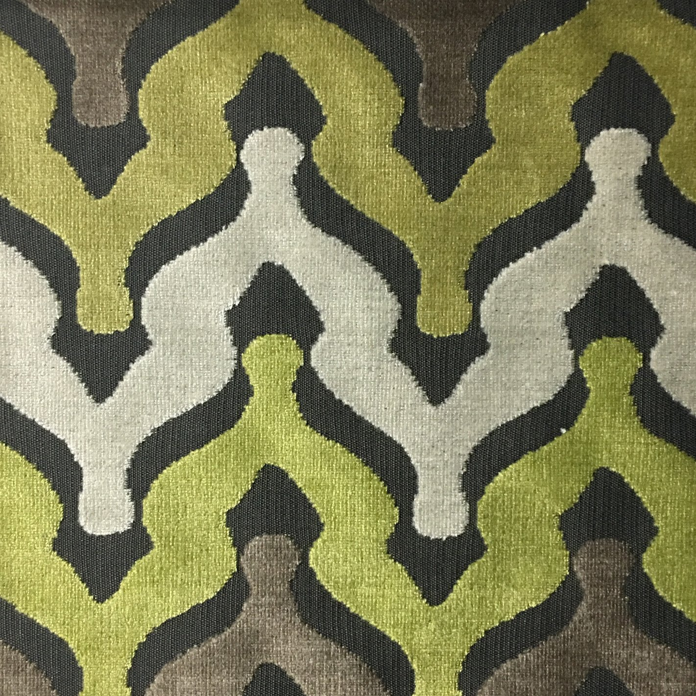 sofa upholsterers leicester cotton twill bold chevron cut velvet upholstery fabric by