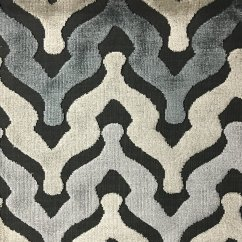 Sofa Upholsterers Leicester Francis By Roberto Lazzeroni Bold Chevron Cut Velvet Upholstery Fabric