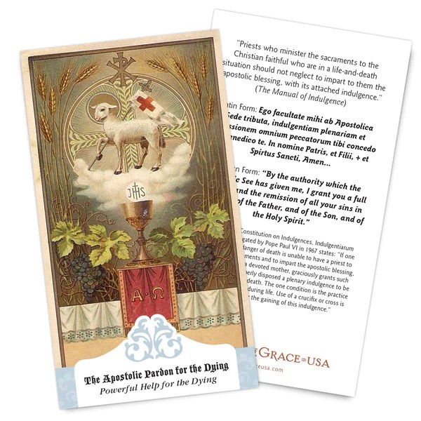 The Apostolic Pardon Powerful Help For The Dying Holy