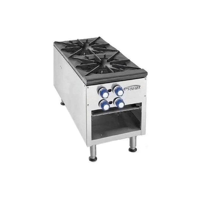 kitchen ranges gas best small appliances imperial two 3 ring burner stock pot range ispa 18 2 nella
