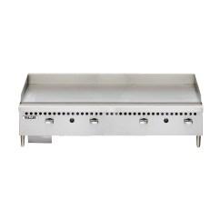 Vulcan Kitchen Aid Appliances Vcrg48 M Restaurant Series Countertop 48 Manual Gas Griddle Nella Online