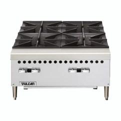 Vulcan Kitchen Barn Doors Vcrh24 Restaurant Series Countertop 24 4 Burner Gas Hot Plate Nella Online