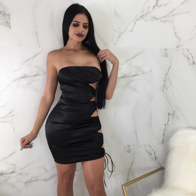 Sasha Side Lace Up Mini – Diva Boutique Online