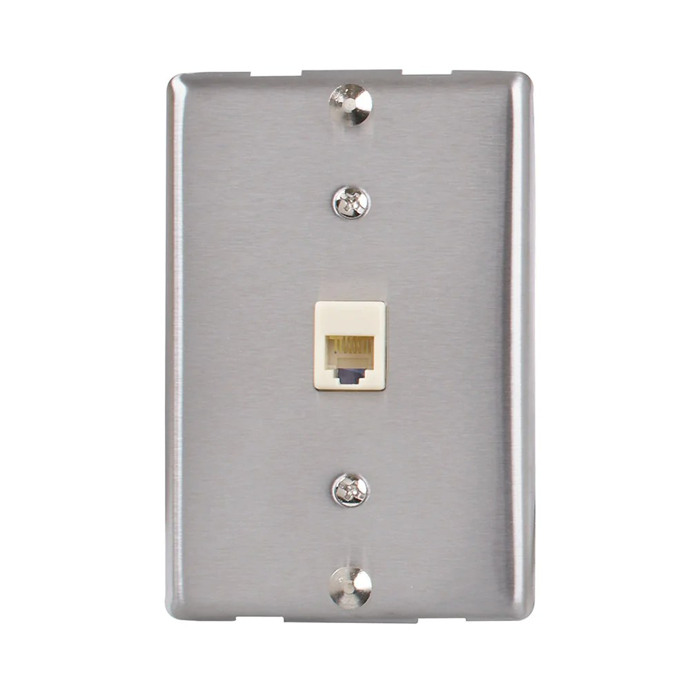 hight resolution of universal wall phone jack silver tw1001wps
