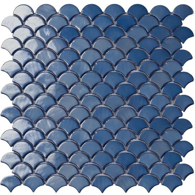 https www aquablumosaics com products brushed dark blue fish scale mosaic glass tile