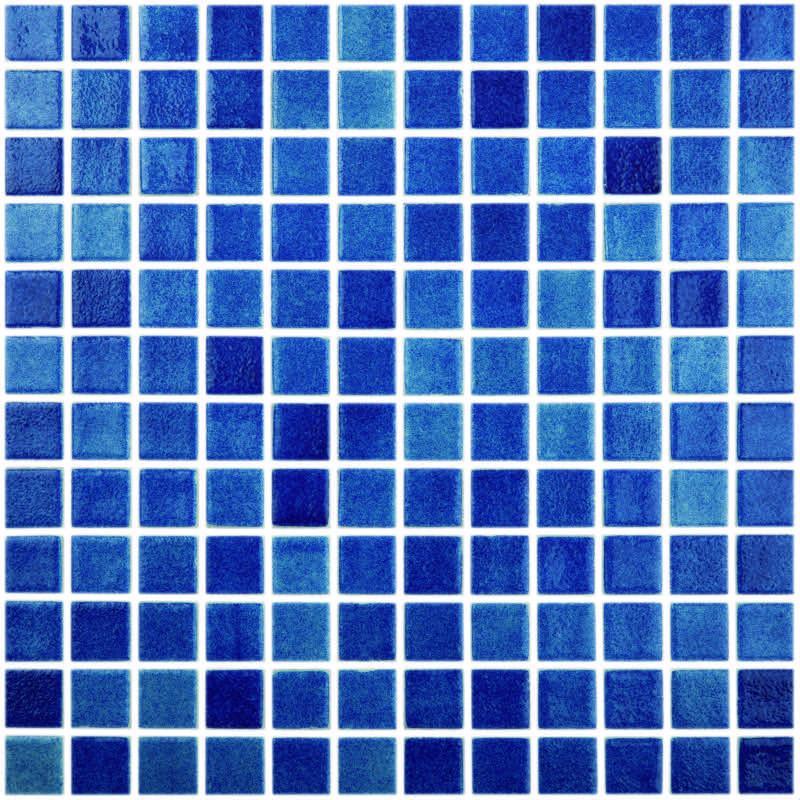 fog navy blue 1 x 1 glass tile