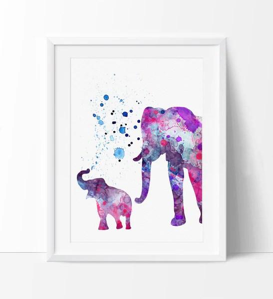 elephant print elephant watercolor