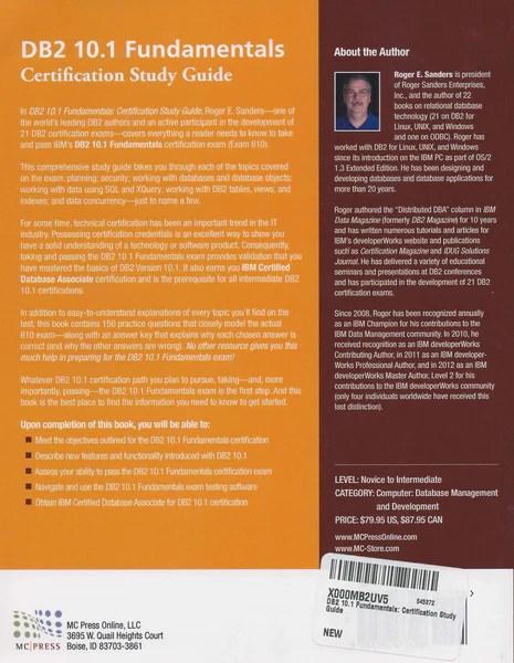 DB2 101 Fundamentals Exam 610  MC Press Bookstore