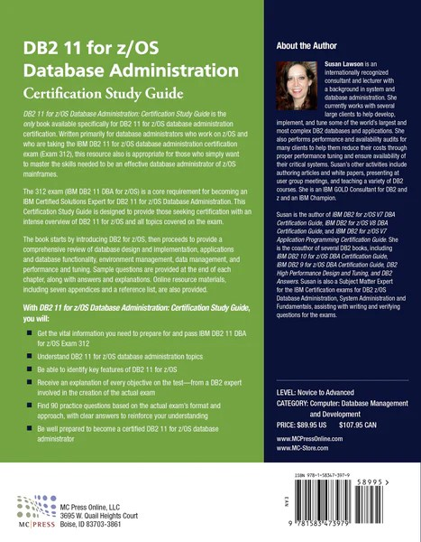 DB2 11 for zOS Database Administration Certification Study Guide  MC Press Bookstore