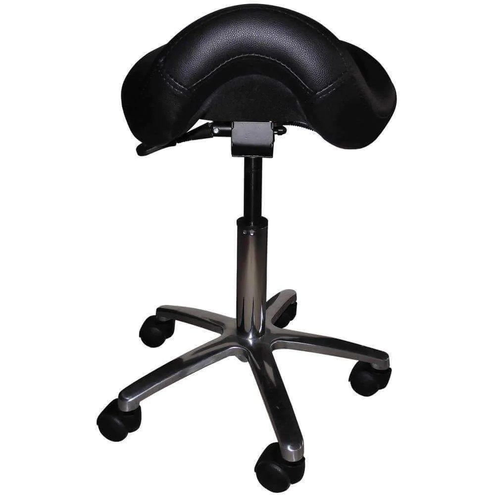 chair stool black rent covers indianapolis adjustable saddle with forward tilting seat sithealthier