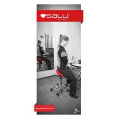 Salli Saddle Chair Leather Lift Triplefit Split Seat Width Adjustable Ergonomic