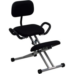Posture Chair Demo Ergonomic Office Reviews Sit Healthier Kneeling With Back And Handles