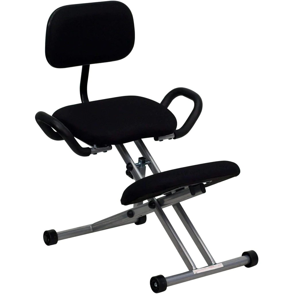 posture chair demo my leather is peeling sit healthier ergonomic kneeling with back and handles