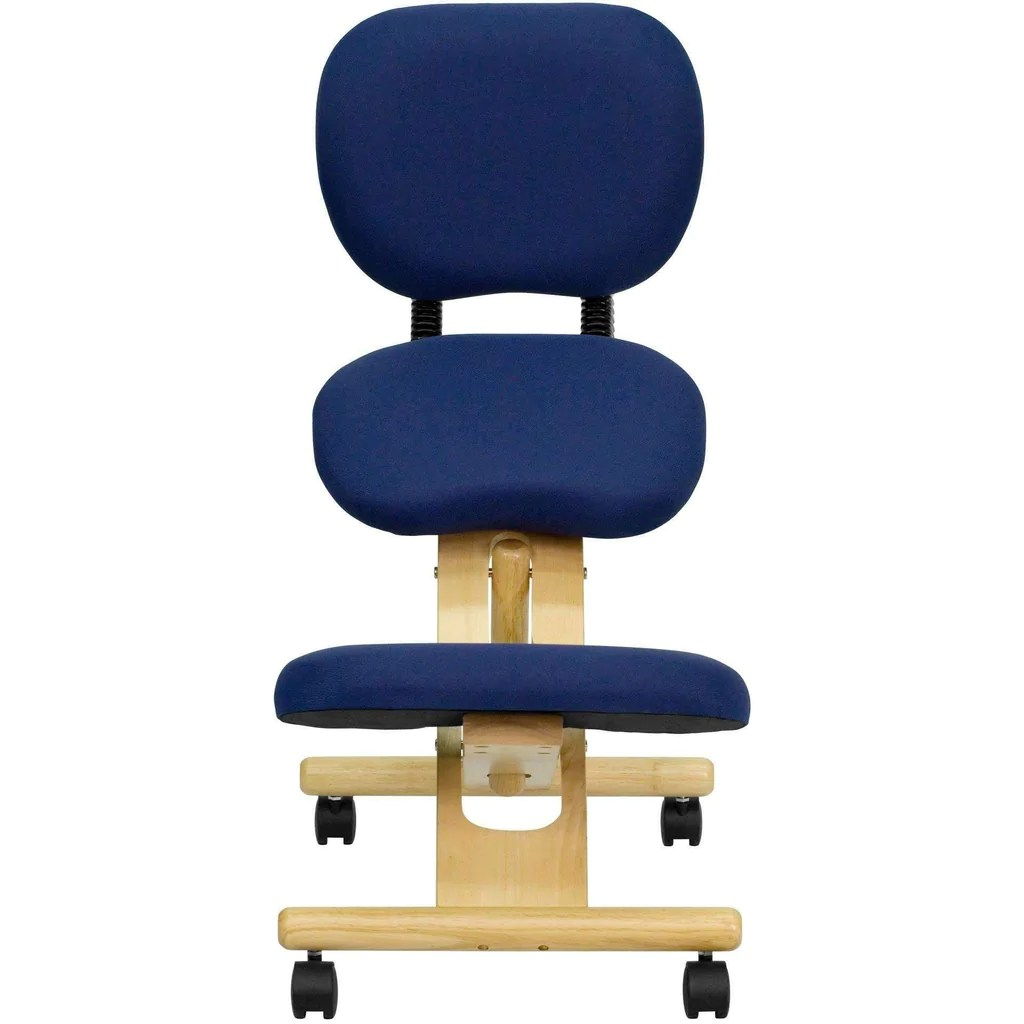 posture chair demo cosco zebra high ergonomic kneeling in with reclining back mobile wooden