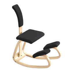 Posture Chair Sitting Navy And White Varier Active Balans Kneeling With Back Sithealthier