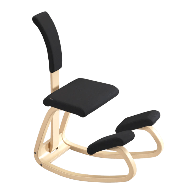 posture chair demo serta executive office varier active sitting balans kneeling with back sithealthier