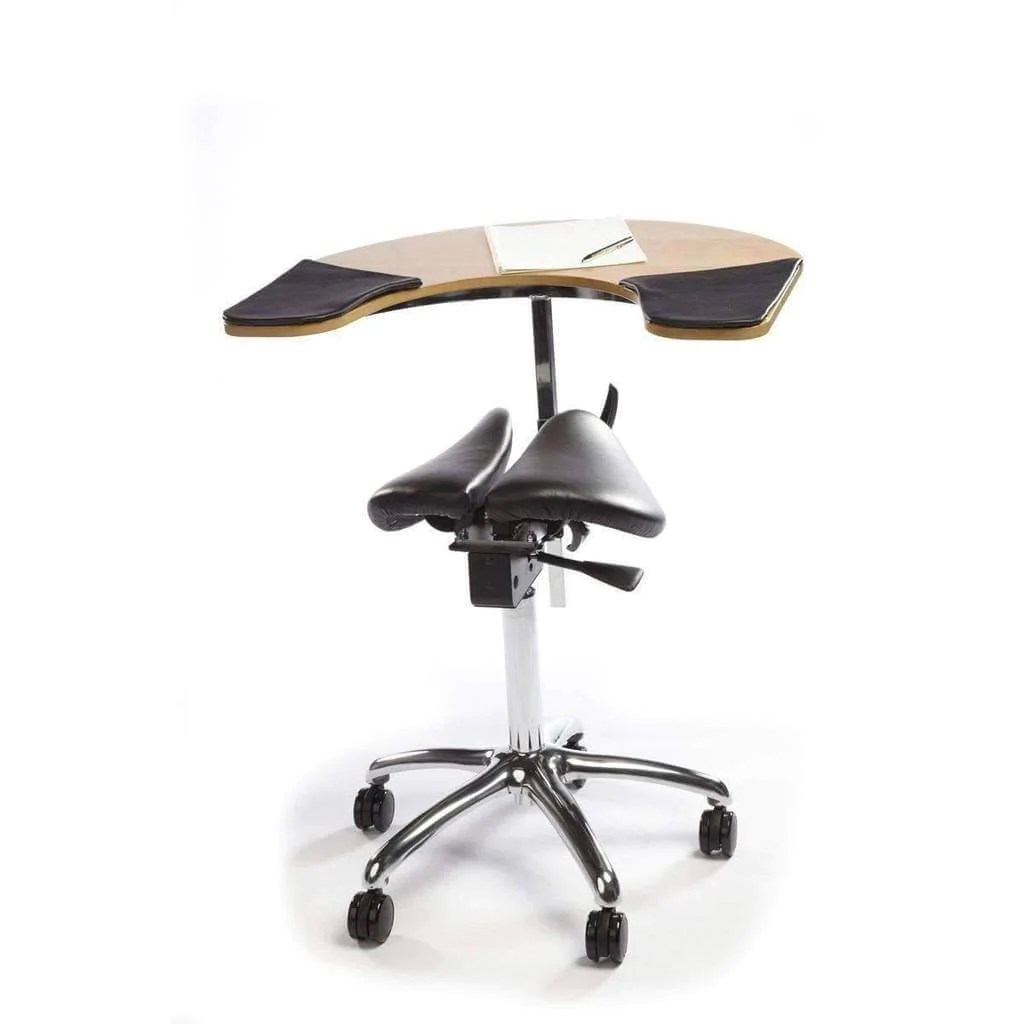 salli saddle chair outdoor butterfly ergonomic twin with elbow table