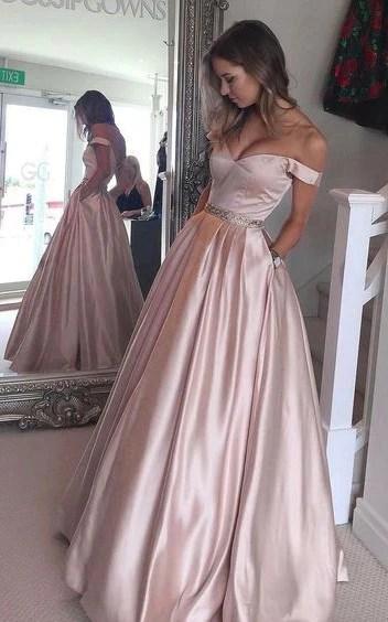prom dress 2017 shoulder