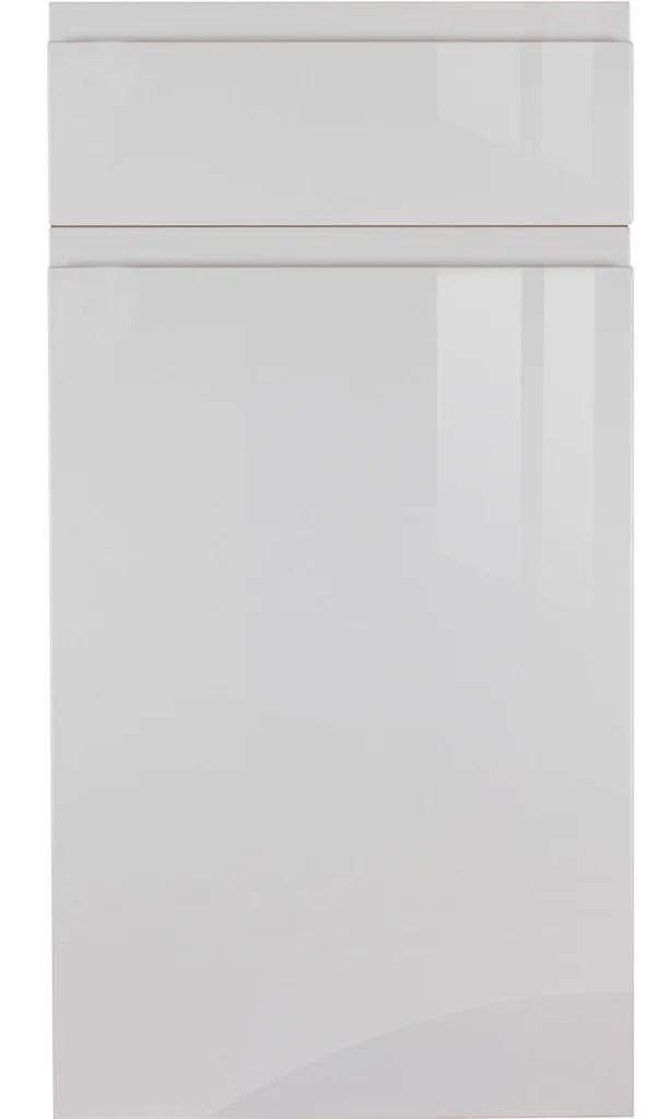 grey high gloss kitchen doors Handleless Light Grey High Gloss Kitchen Doors – Just Click Kitchens
