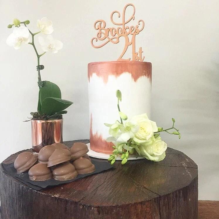 21st Cake Topper Name It Custom Decor