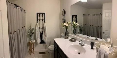 linen button shower curtain lush