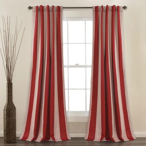 Julia Stripe Room Darkening Window Curtain Set Lush