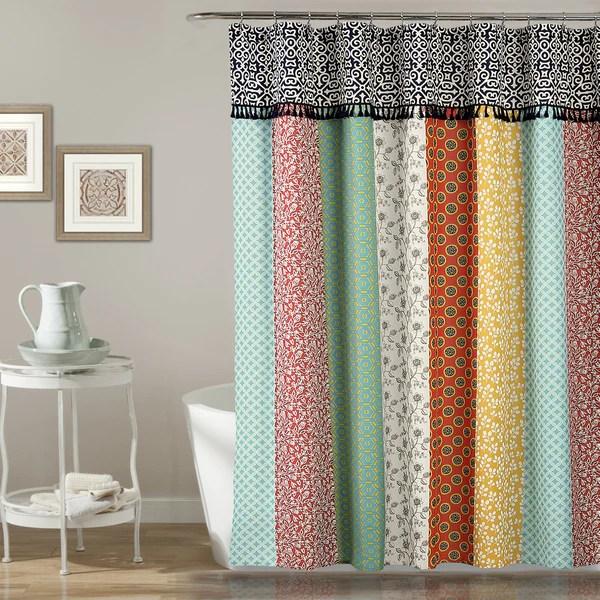 Boho Patch Shower Curtain Lush Decor Wwwlushdecorcom
