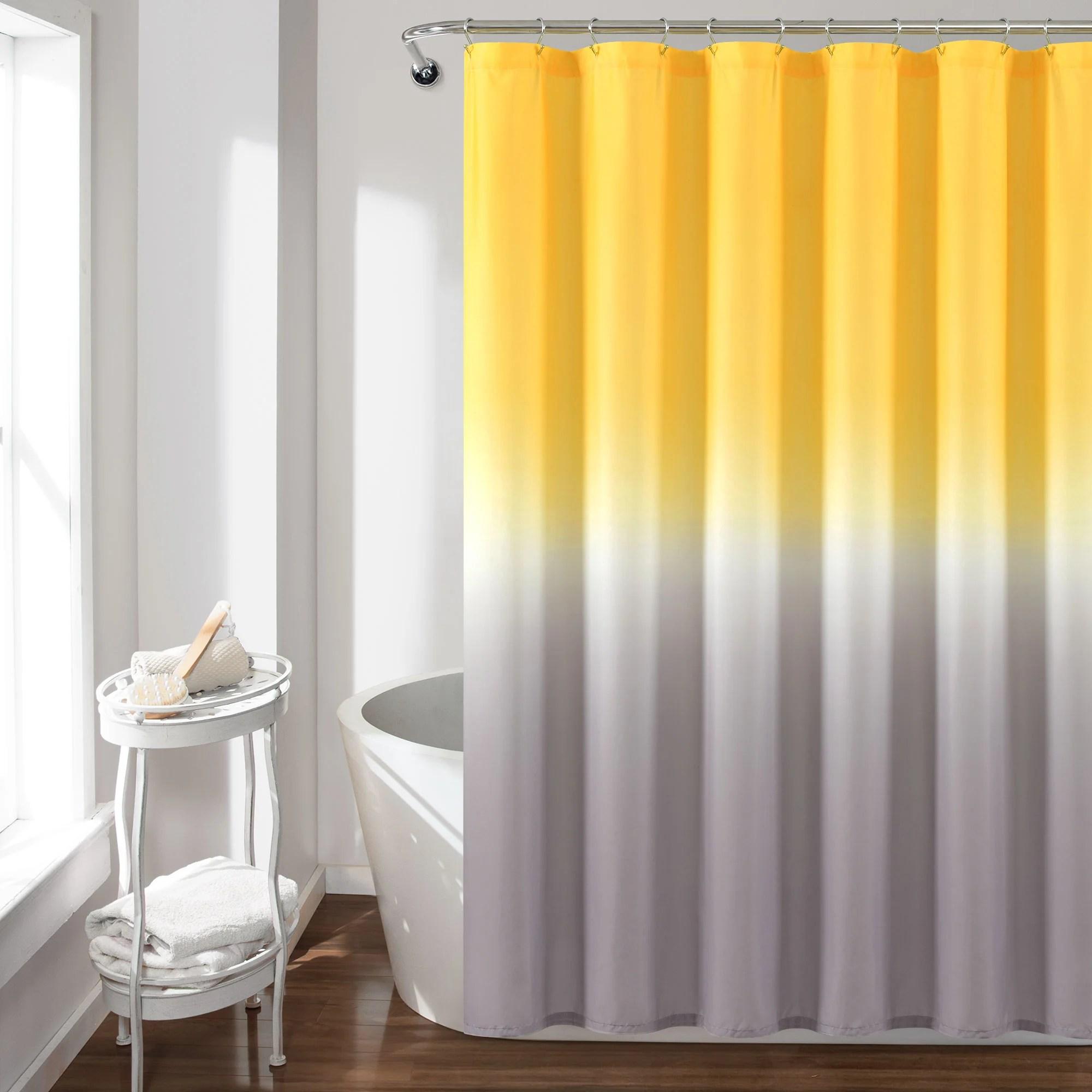 umbre fiesta shower curtain 72 x 72 yellow gray